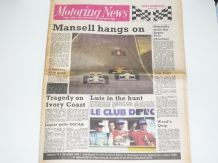 MOTORING NEWS 1987 Sept 30 Spanish GP, Ivory Coast Rally, Fuki 1000, F3000, F3